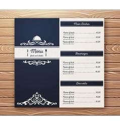 Restaurant or cafe menu template retro vector
