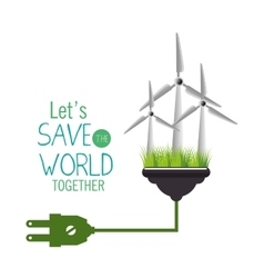 save the world concept icon vector image vector image