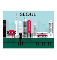 Seoul city vector
