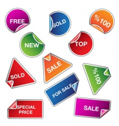 set of sale stickers vector image vector image