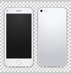 smartphone template front and black view vector image vector image
