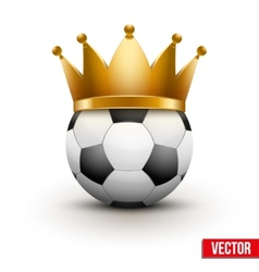 Soccer ball with royal crown vector