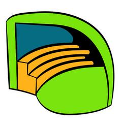 stadium icon in icon cartoon vector image vector image