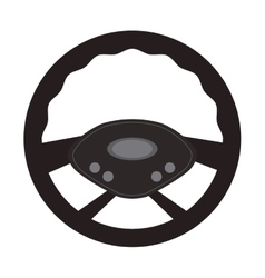 steering wheel car automobile design vector image