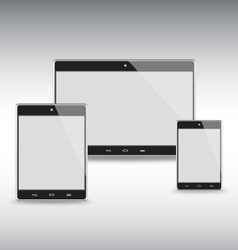 Tablets Template Set vector image vector image