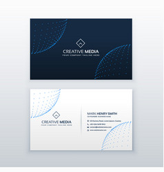 technology style business card design template vector image vector image