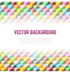 Abstract geometric background with 3d cubes vector