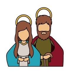 Mary and joseph of holy night design vector