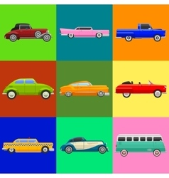 Retro car vehicle vector
