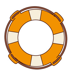 Aged flotation hoop with rope vector