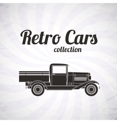 Retro pickup truck car vintage collection vector
