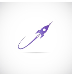 Space ship symbol icon or label vector