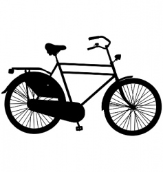 Dutch roadster bicycle vector image
