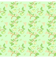 green apple seamless pattern vector image