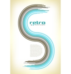 Abstract retro disco background - vector