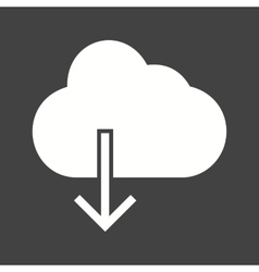 Cloud with downward arrow vector