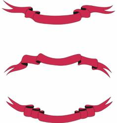 Scarlet ribbons vector