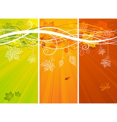 Three vertical autumn banners vector