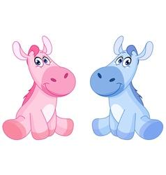 baby horses vector image