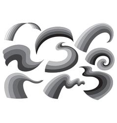 gray decorative elements vector image