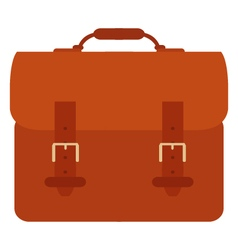 Suitcase on white background vector