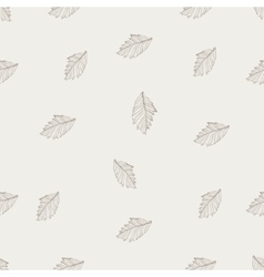 Hand drawn leaf seamless pattern vector