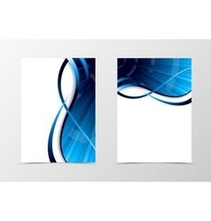 Flyer template spectrum design vector image