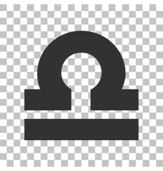 Libra sign  dark gray icon on vector