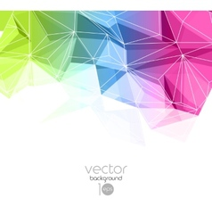 Abstract retro geometric background template vector