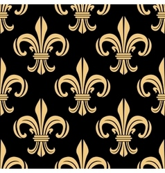 Beige and black seamless pattern vector image vector image