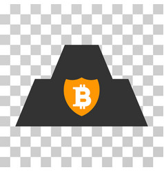 Bitcoin citadel icon vector