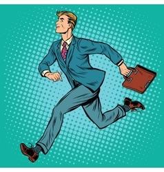 Businessman running man vector image vector image