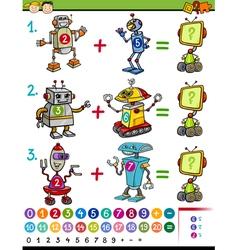 Cartoon math education game vector