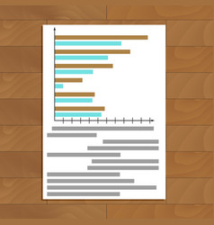 Chart and graphic vector