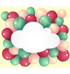 Cloud with balloons vector image vector image