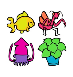 Cute nature pack vector