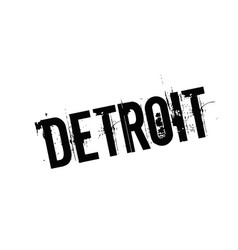 Detroit typographic stamp vector