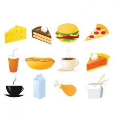 foods and snacks vector image vector image