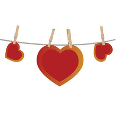 Heart on rope vector