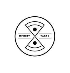 infinity taste italian pizza round logo vector image vector image