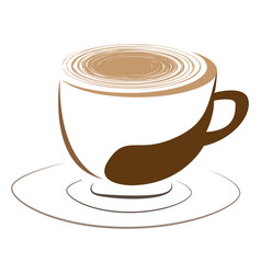Isolated coffee mug logo vector