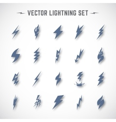 Lightning or blizzard icon set in material vector