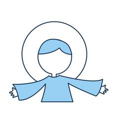 Little jesus baby manger character vector