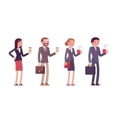 Office workers with coffee vector