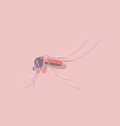Paper sticker on background of mosquito vector