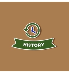 Paper sticker on stylish background history lesson vector