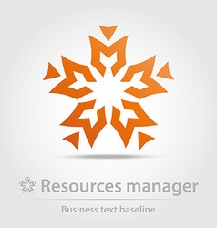 Resources manager business icon vector