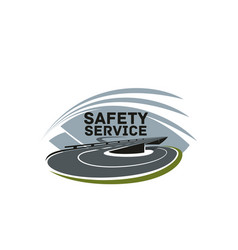 road safety service isolated icon template vector image