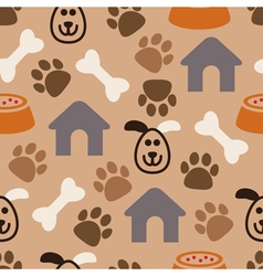 seamless dog pattern vector image vector image