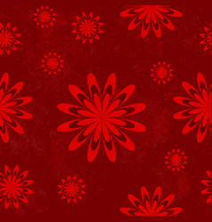 seamless flower pattern in red vector image